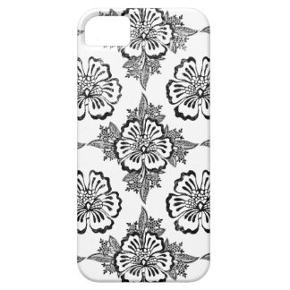 Distressed damask floral hibiscus flower pattern iPhone SE/5/5s case