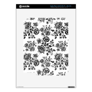 Distressed damask floral roses flowers pattern hot iPad 3 decal