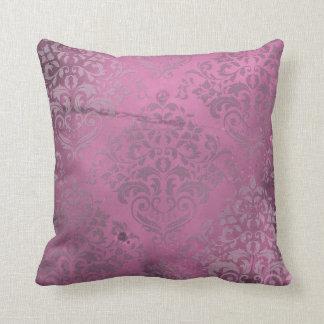 Distressed Damask Pink Pillows