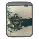 Distressed dark teal swirls Rickshaw iPad sleeve