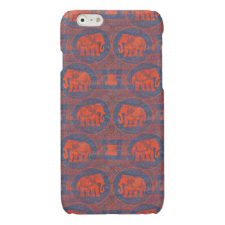 Distressed Decorated Elephants Glossy iPhone 6 Case