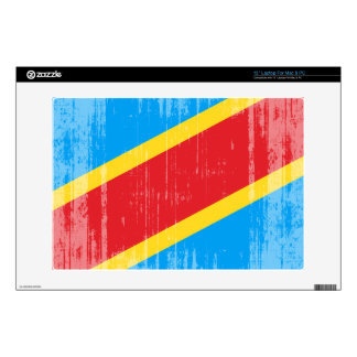 DISTRESSED DEMOCRATIC REPUBLIC OF CONGO FLAG.png Laptop Decal