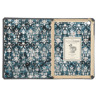 Distressed Denim Damask Cover For iPad Air