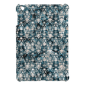 Distressed Denim Damask Cover For The iPad Mini