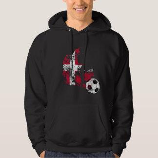 Distressed Denmark Soccer Hoodie