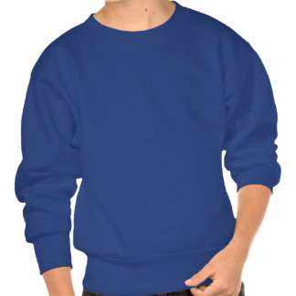 Distressed Dinosaur Silhouette Pullover Sweatshirt