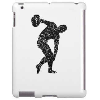 Distressed Discus Throw Silhouette
