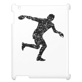 Distressed Discus Throw Silhouette Case For The iPad
