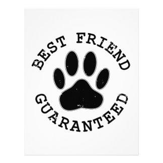 Distressed Dog Paw Best Friend Guaranteed Letterhead