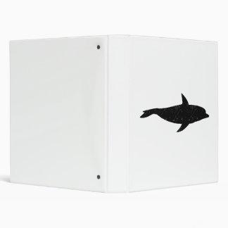 Distressed Dolphin Silhouette Vinyl Binders