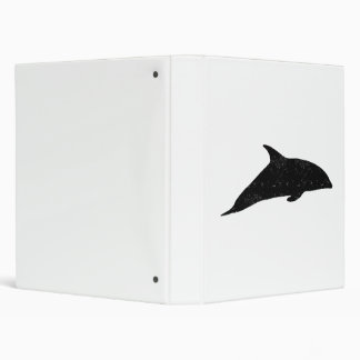 Distressed Dolphin Silhouette 3 Ring Binder