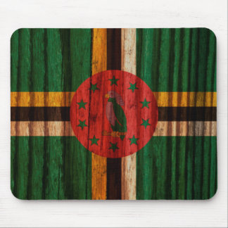 Distressed Dominica Flag Mouse Pad
