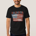 Distressed Drum Stick USA Flag Drummer Tees Gifts
