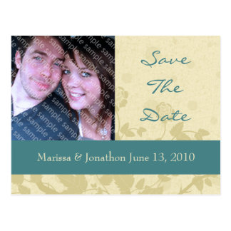 Distressed Elegance Photo Save The Date Postcards