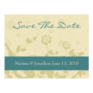 Distressed Elegance Save The Date Postcards