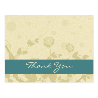 Distressed Elegance Thank You Postcards