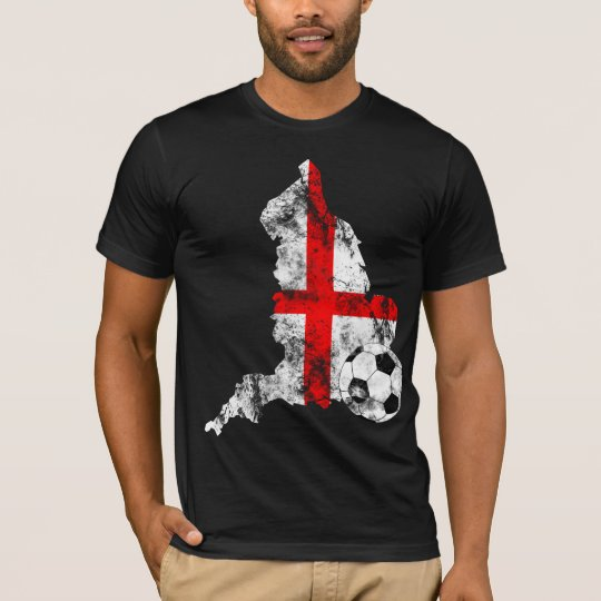 Distressed England Soccer T-Shirt