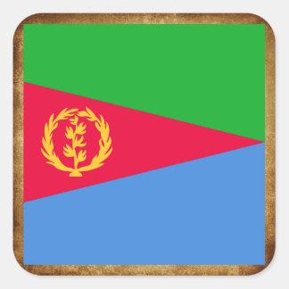 Distressed Eritrea Flag Square Sticker