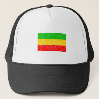 Distressed Ethiopia Flag Trucker Hat
