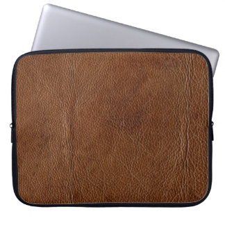 Distressed Faux Leather-Look Laptop Sleeve