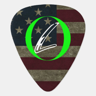 Distressed Flag, Loyalty Brand, Guitar Pick