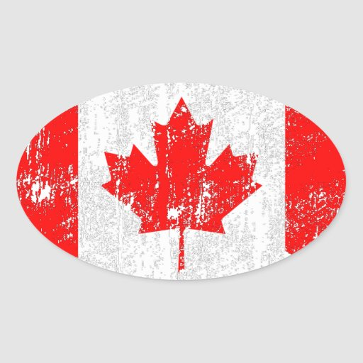 Distressed Flag Of Canada Stickers
