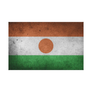 Distressed Flag of Niger Canvas Print