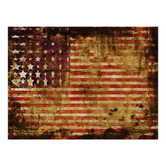 Distressed Flag Poster