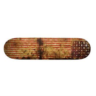 Distressed Flag Skateboard