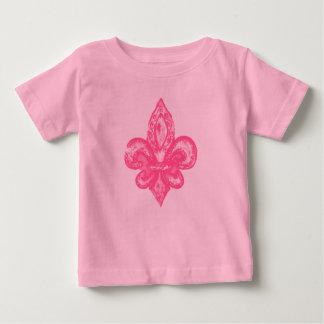 Distressed Fleur De Lis (Pink) T-shirt