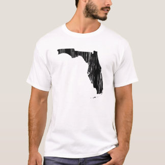 Distressed Florida State Outline T-Shirt