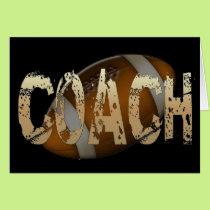 Distressed Football Coach Card