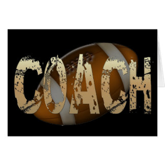 Distressed Football Coach Card