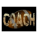 Distressed Football Coach Greeting Card