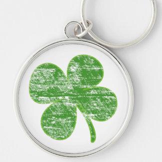 Distressed Four-Leaf Clover Key chain