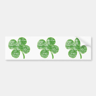 Distressed Four-Leaf Clover Stickers