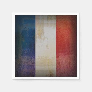 Distressed France Flag Napkin