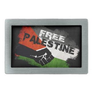 Distressed Free Palestine Flag Rectangular Belt Buckle