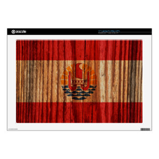 """Distressed French Polynesia Flag Decals For 17"""" Laptops"""