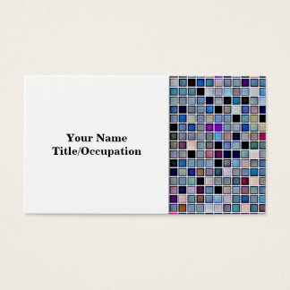 Distressed Funky Blue 'Bathroom Tiles' Pattern Business Card