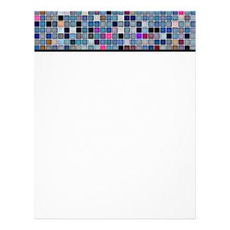 Distressed Funky Blue 'Bathroom Tiles' Pattern Custom Letterhead