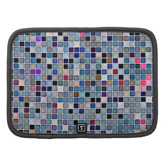 Distressed Funky Blue 'Bathroom Tiles' Pattern Organizers