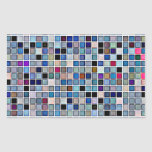 Distressed Funky Blue 'Bathroom Tiles' Pattern Rectangle Sticker