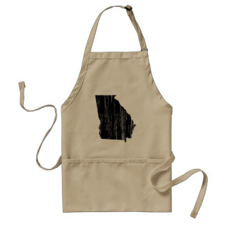 Distressed Georgia State Outline Adult Apron