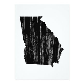 Distressed Georgia State Outline Card