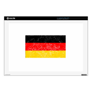 "Distressed Germany Flag 17"" Laptop Decal"