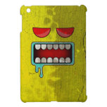 Distressed Gold Drooling Red-Eyed Monster Face Cover For The iPad Mini
