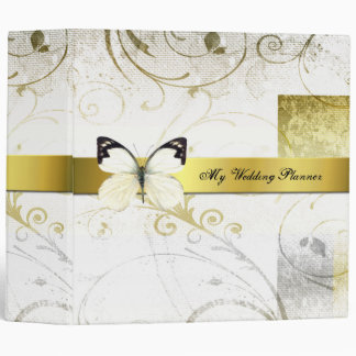 Distressed Gold Flourishes Wedding Planner Binder