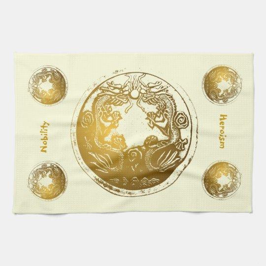 Distressed Golden Dragons - Nobility, Heroism Towel