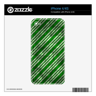 Distressed Green Stripes iPhone 4 Skins